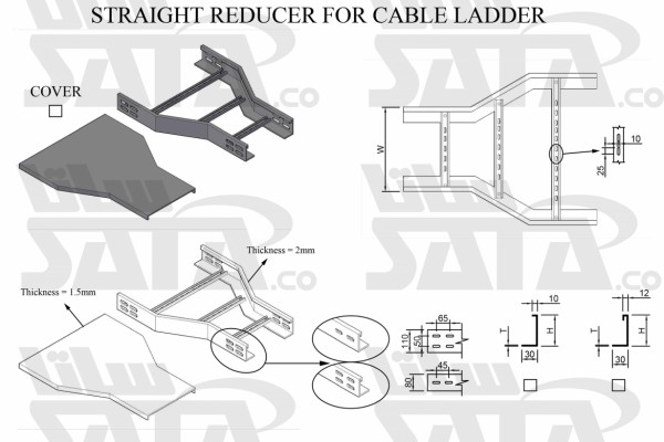 STRAIGHT REDUCER FOR CABLE LADDER