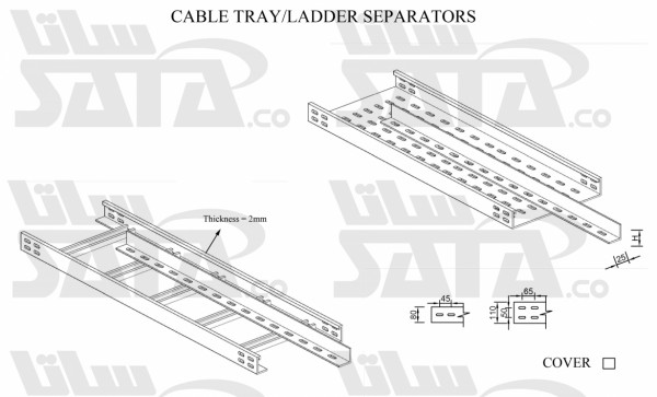 CABLE TRAY/LADDER SEPARATORS