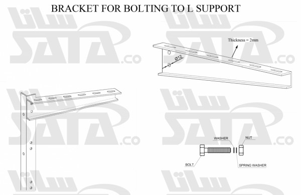 BRACKET FOR BOLTING TO L SUPPORT