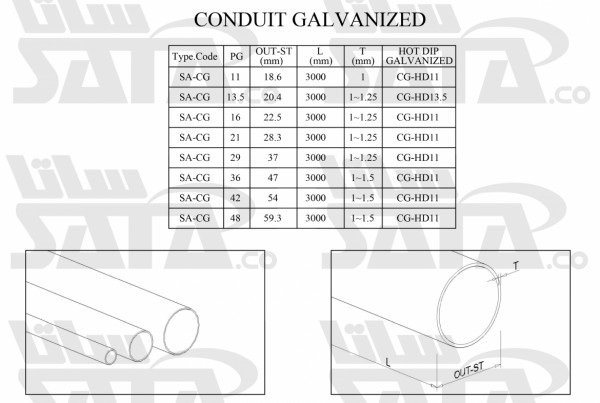 CONDUIT GALVANIZED