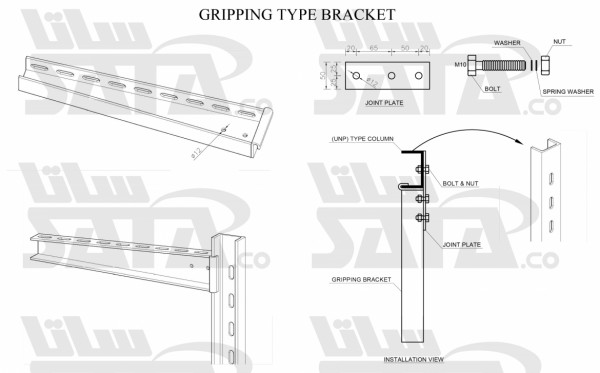 GRIPPING TYPE BRACKET