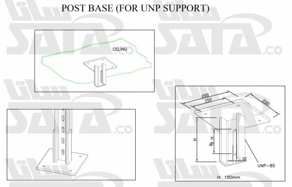 (POST BASE (FOR UNP SUPPORT